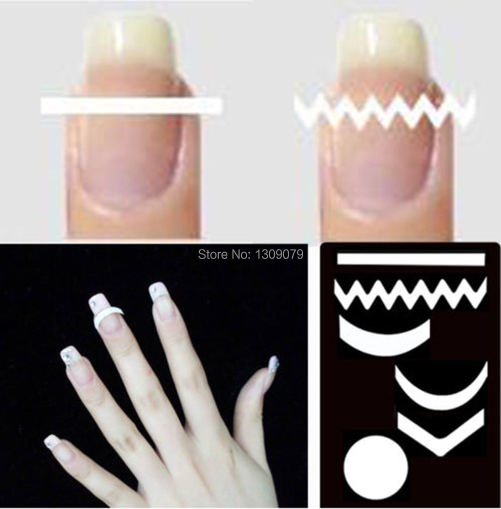 New Chic DIY 18 Style French Manicure Nail Art Tips Tape Sticker ...