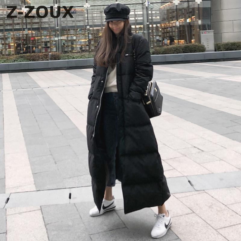 Z-ZOUX Womens   Down   Jackets Thickened Super Long White Duck   Down   Jacket Women Winter Jacket Women Long Sleeve   Down     Coat   2018 New