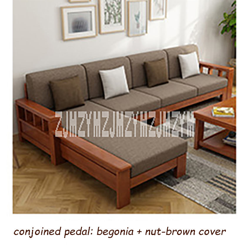 Us 551 8 11 Off 8809 Dual Purpose Home Solid Wood Sectional Recliner Couch Modern Simple Corner Sofa Set Living Room L Shape Combination In
