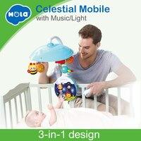 HOLA 1105 Новое поступление 5 шт./компл. ABS Набор мобиль для детской кроватки прикроватная игрушка колокольчик держатель с опорой детская музыка