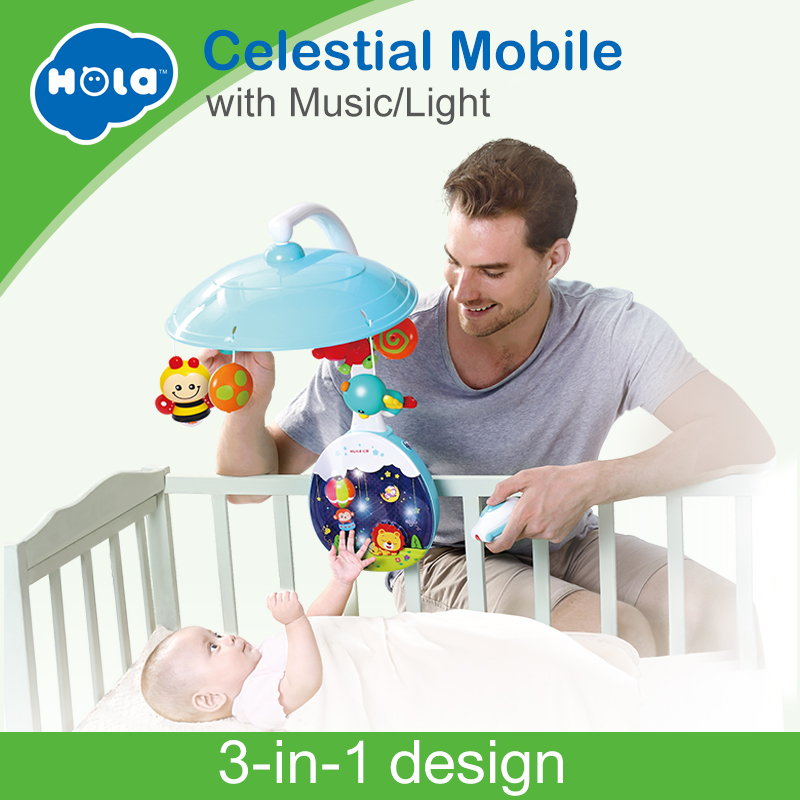 HOLA 1105 New Arrived 5 pcs/set ABS Set Baby Crib Mobile Bed Bell Toy Holder Arm Bracket Nursery Music Love Baby Rattles 72cm baby bed hanging rattles toys hanger diy hanging baby crib mobile bed bell toy holder 360 degree rotate arm bracket set