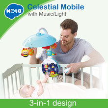 HOLA 1105 New Arrived 5 pcs/set ABS Set Baby Crib Mobile Bed Bell Toy Holder Arm Bracket Nursery Music Love Baby Rattles(China)