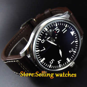 PARNIS 44mm hand winding sea gull Swan Neck movement Men's watch - DISCOUNT ITEM  15% OFF All Category
