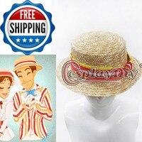 Mary Cosplaydiy Poppins Bert Fantazyjne Kapelusz Dorosłych Kobiet Halloween Movie Cosplay D0528 Kobiece Lato Darmowa Wysyłka