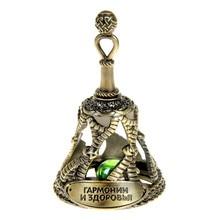 """""""Harmonie und gesundheit"""" Glocke mit ein stein amulett. urlaub geschenke vintage dekoration. Metall archaize Chunch souvenirs"""