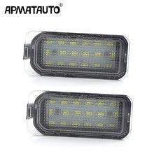 1 пара ОШИБОК белый светодиодный светильник номерного знака для Jaguar XF X250 XJ X351 авто задний номерной знак лампы для автомобиля Стайлинг Замена