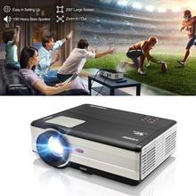 Mobile LED Projector Home Cinema Projeksiyon Display Full HD Video Beamer HDMI VGA For Sma