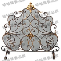 Wrought Iron Floor Mantel The Oven Rack Fireplace Surrounds Flameproof Enclosure Fire Fire Screen