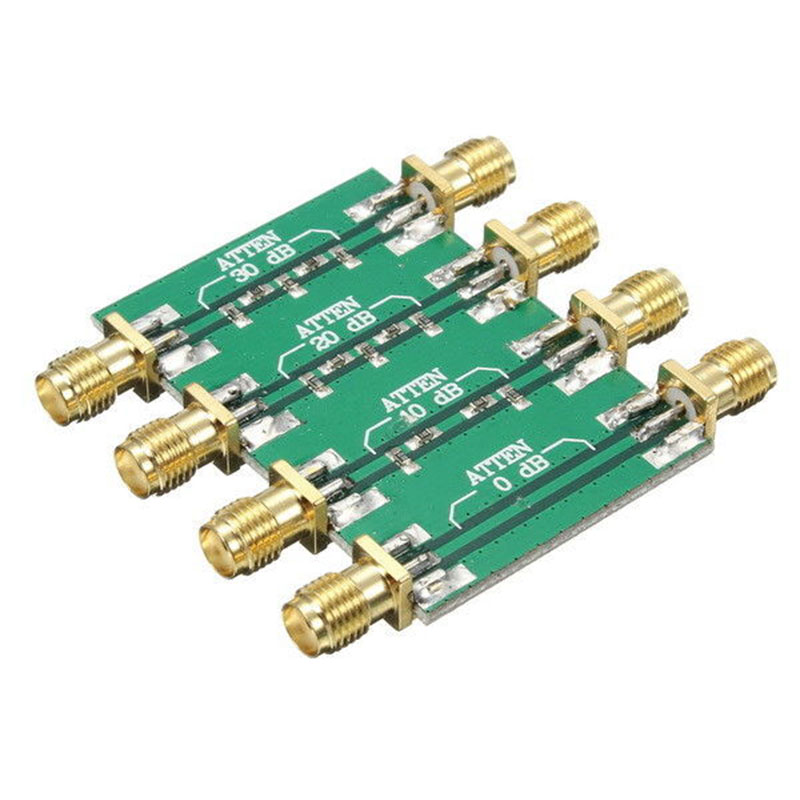 WISH-200mW DC 4.0GHz RF Fixed Attenuator SMA Double Female Head 0dB 10dB 20dB 30dB att 0277 20 sma 02 attenuators interconnects 20db 4 ghz mr li