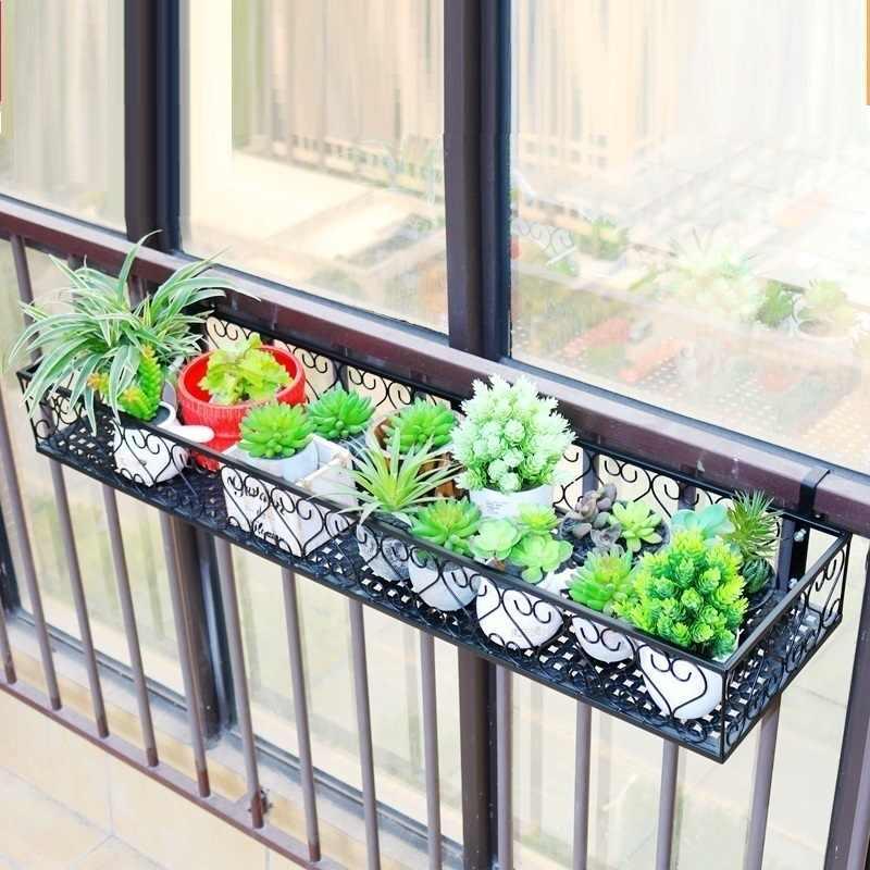 Pflanzzubehor Hangende Pflanze Rack Balkon Runde Blumentopf Rack Gelander Zaun Outdoor Decor Logico Hr