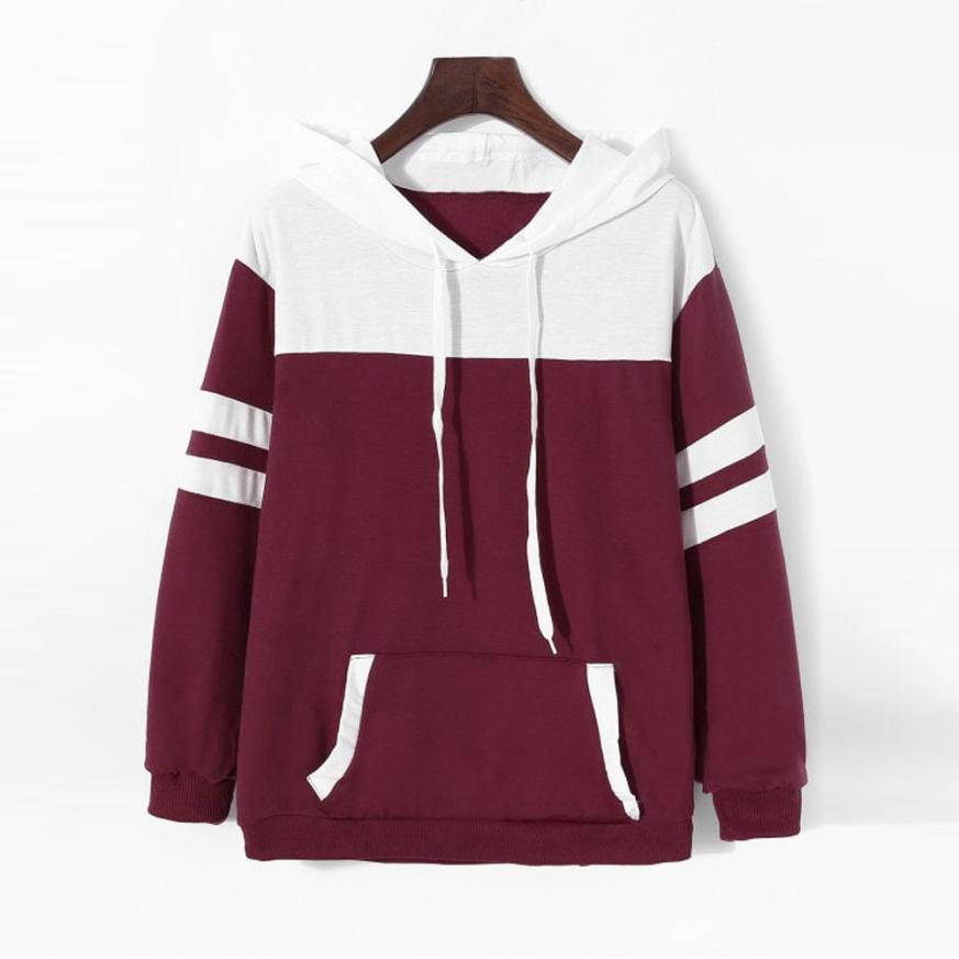 2019 Womens Hoodie Sweatshirt Long Sleeve Jumper Hooded Pullover Tops Women 39 s New Sweatshirt in Hoodies amp Sweatshirts from Women 39 s Clothing