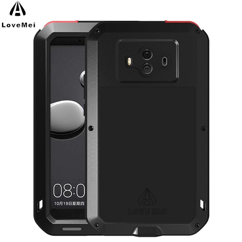 AMO MEI Para Huawei Companheiro 10 Caso o Metal De Alumínio À Prova de Choque Casos de Telefone de luxo Para Huawei Companheiro 10 Caso Capa Poderosa proteção