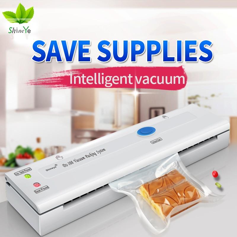 ShineYe embalaje del sellador del vacío del alimento del hogar Mahicne 110-220 V vacío máquina incluyen bolsas skit para mantener los alimentos ahorro