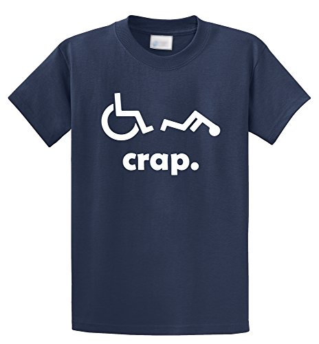 Для Мужчинs дерьмо гандикап забавная каталка футболка инвалидов футболка хлопок хип-хоп Стиль Повседневное футболки