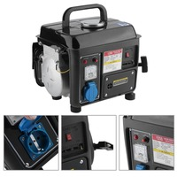 (Ship from DE)1200W 2HP Portable Electric Gas Powerful 2 Stroke RV Camping Gasoline Generator Accessories Set Germany Plug