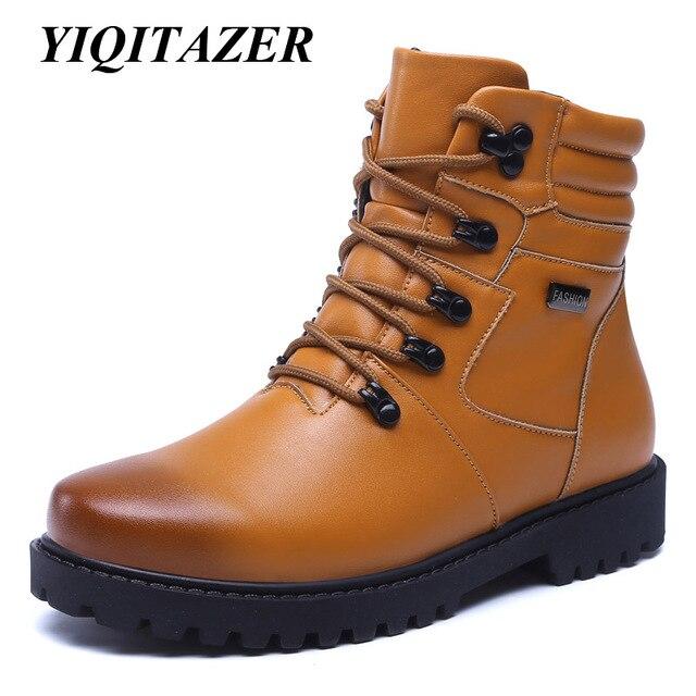 Yiqitazer 2018 Fashion Musim Dingin Sepatu Bot Salju Pria sol Karet Sepatu  Bot Militer Sepatu Pria 2a7e18e8db