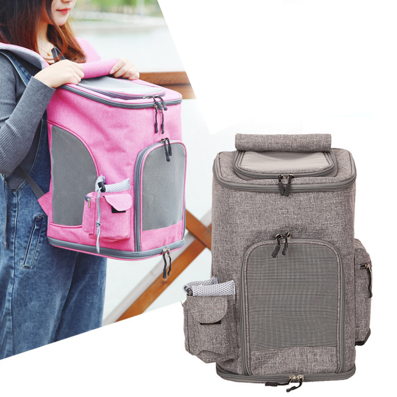2018 new pet bag puppy dog out portable backpack cat cage breathable folding cat handbag out travel carrier pet supplies-in Dog Carriers from Home & Garden    1