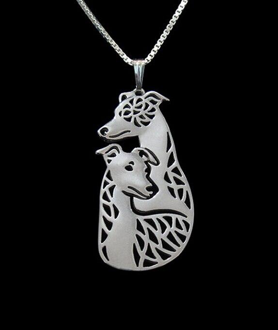 Купить ожерелье для пары собак whippet летняя мода кулон в виде мультяшной