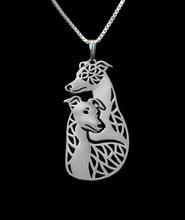 Ожерелье для пары собак whippet летняя мода кулон в виде мультяшной