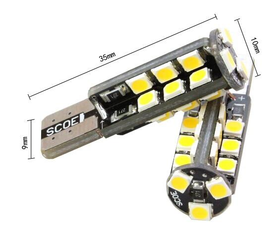 SCOE Αυτοκίνητο Styling T10 2x27SMD Λυχνία LED - Φώτα αυτοκινήτων - Φωτογραφία 4