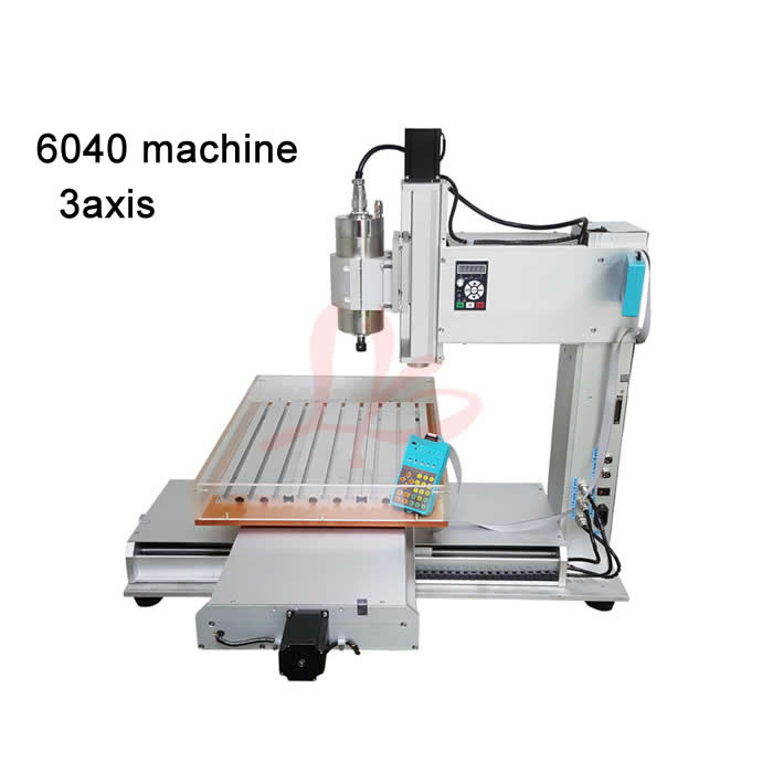 Factory supply high quality cnc router 6040 metal milling machine 1500W water cooled spindle work area 600x400x150mm cnc 5axis a aixs rotary axis t chuck type for cnc router cnc milling machine best quality