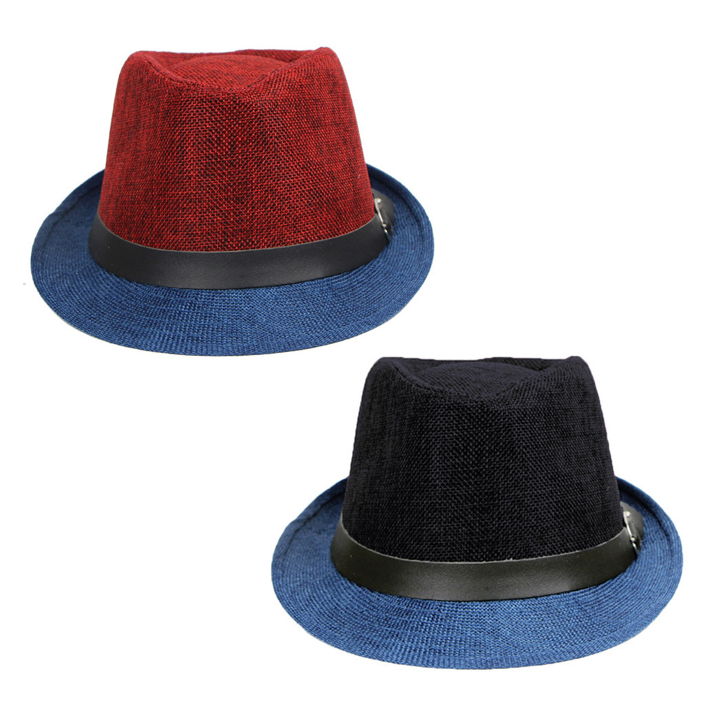 Fashion Mens Top Hat 2019 Spring And Summer Jazz Hat Outdoor Linen Sun Hat Panama Hat