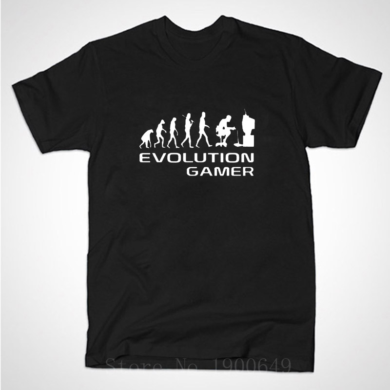 Evolution Of A Gamer PC Geek T Shirt short sleeve O-Neck Anime Funny t-shirt men clothing Plus Size