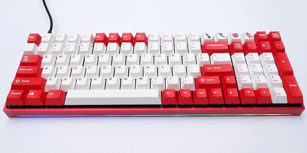 RGB96 Mechanical Keyboard CNC Aluminum Case Plate PCBA Stabilizers Keycaps Full Assembly for 96 key Mechanical Keyboard DIY-in Keyboards from Computer & Office    1