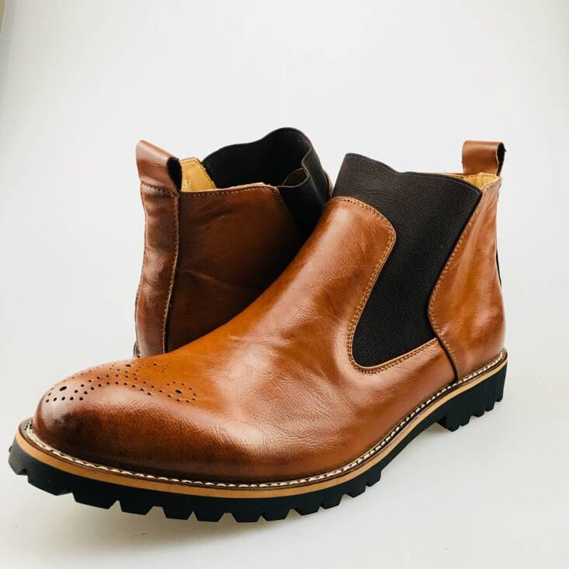 YIGER Men's Chelsea Boots 18