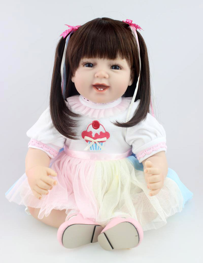 55cm New Born Baby Soft Silicone Reborn Baby Doll Girl Toy 22 High end Girl Gift Toy Clothing Model
