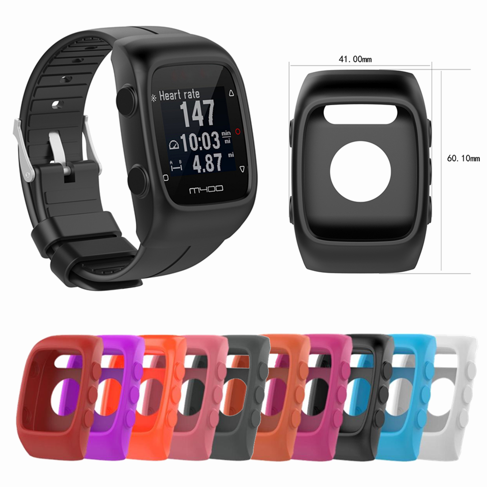 Silicone Cover For For <font><b>Polar</b></font> <font><b>M430</b></font> / <font><b>Polar</b></font> M400 Smart Watch Running Sport GPS Screen Case Replacement Protector Frame Accessories image