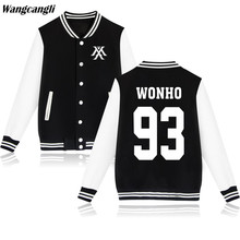 2017 EXO KPOP MONSTER Baseball Jacket Women Fans Winter Jackets Coat Hip Hop SEHUN Hoodies Sweatshirt