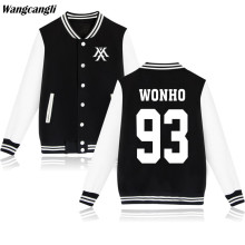 2017 EXO KPOP MONSTER Baseball Jacket Women Fans Winter Jackets Coat Hip Hop SEHUN Hoodies Sweatshirt Plus Size 5XL