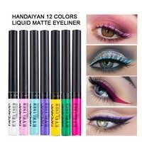 12 pz/set HANDAIYAN Colorato Opaco Eyeliner Liquido Tinta Occhi di Trucco Impermeabile di Lunga durata Smooth Eye Liner per il Partito Cosmetici