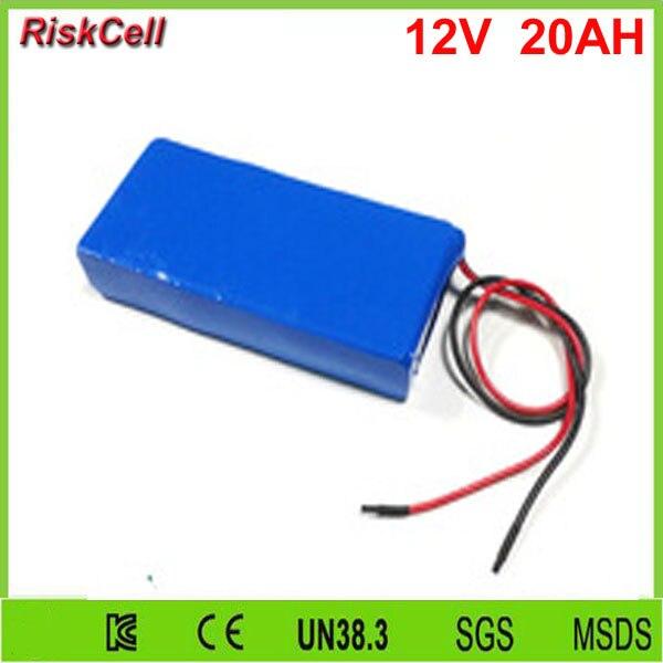 5 pcs/lot 18650 12 v 20ah lithium ion batterie pour led éclairage de bande