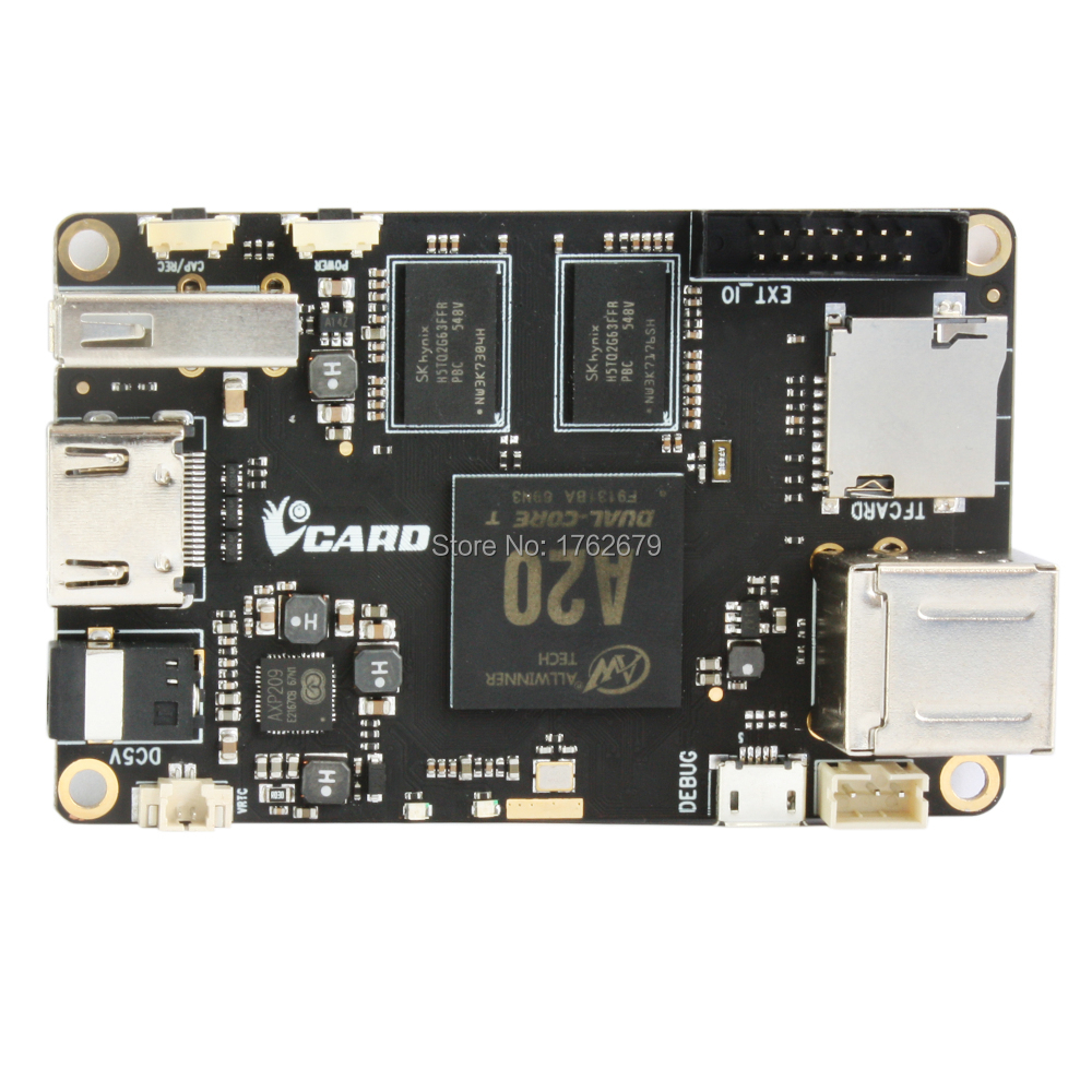 VCard board ALLWINNER A20 CPU Mini Card PC opensource platform for ELP USB camera board eyoyo nts100 dia 8 2mm 2 7 lcd nts100 endoscope borescope snake inspection 1m tube camera dvr