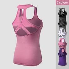 2019 Yoga Tops Vest Women Sports Top Tank Duick Dry Fitness Woman Sport Shirt Gym Female t Sleeveless