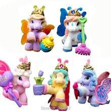 5 pz / set Filly Stars Ali di farfalla Action PVC Figure Little Horse Dolls da collezione Anime Figurine Giocattoli per bambini per i bambini