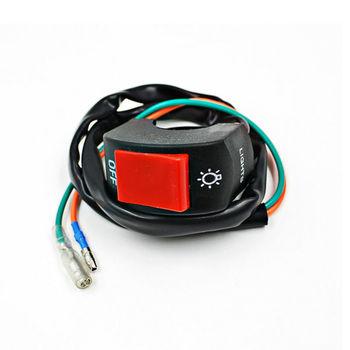Uniwersalna kierownica przycisk złącze bullet moto rcycle moto Trail reflektor włącznik światła lampa Led wł Wył Dla moto bycle refitted tanie i dobre opinie Motocykl przełączniki Buendeer Switch for Light Plastic on any 12V DC Electrical System
