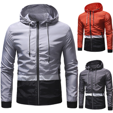New men's jacket casual hoodie spring and autumn hip-hop mountaineering jacket sports zip-up jacket jacket