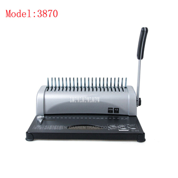 1PC 3870 Practical 21 holes  A4  Manual Comb Book Binding Machine,can punch 12sheets at a time