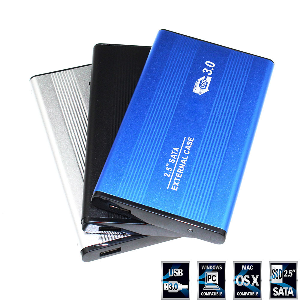 <font><b>2.5</b></font> Inch Notebook SATA <font><b>HDD</b></font> Case To Sata <font><b>USB</b></font> <font><b>3.0</b></font> SSD HD Hard Drive Disk External Storage Enclosure Box With <font><b>USB</b></font> <font><b>3.0</b></font> Cable image