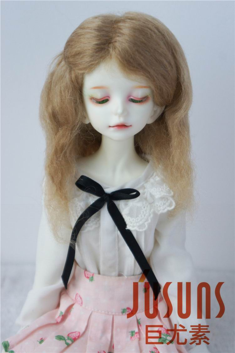 3-wig set 7-8 inch Blond//Carrot//Brown Synthetic Mohair 1//4 BJD MSD Short Wig