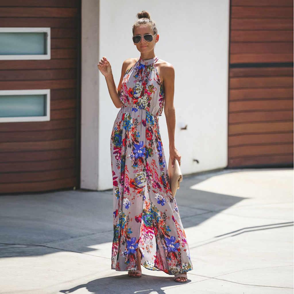 0a37a1c658317 Dresses Women Summer Dress 2018 Long Off Shoulder Slash Neck Boho ...