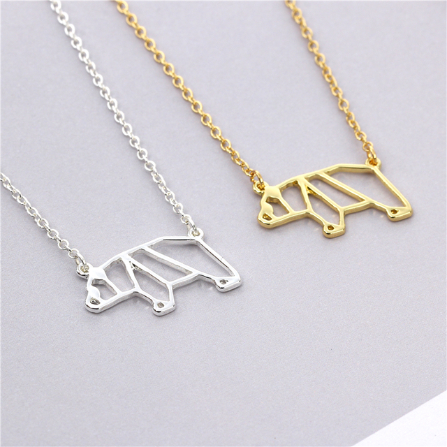 2017 new fashion origami panda necklace geometric jewelry pendant 2017 new fashion origami panda necklace geometric jewelry pendant necklace panda baby animal lover gift mozeypictures Image collections