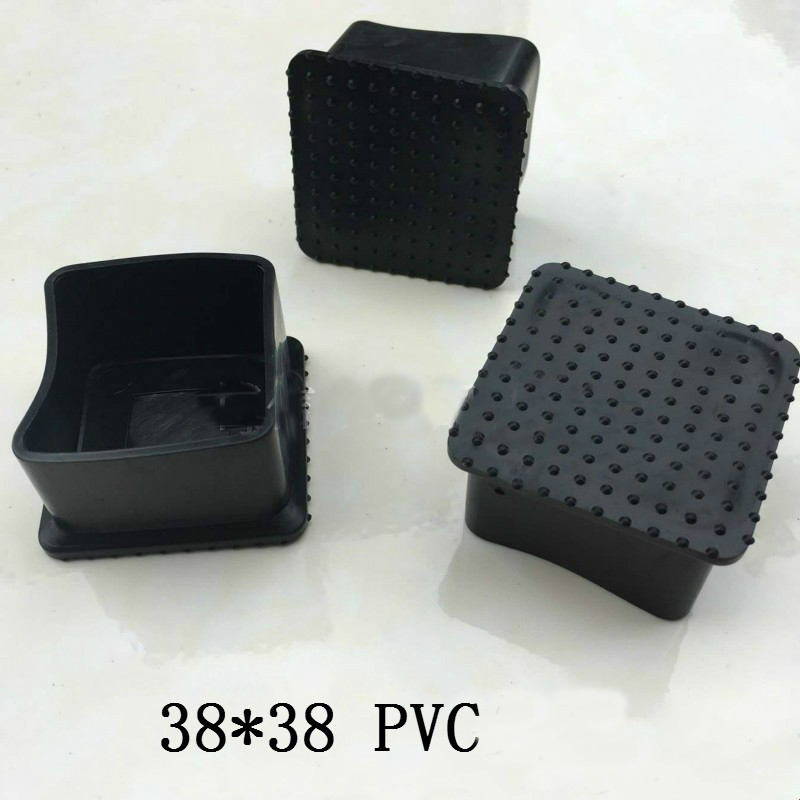 US $8 9 |38*38mm Rubber Sleeve Square Tube PVC Stainless Steel Square Pipe  Plug Cap Antiskid Feet Cover of Furniture Pipe Fittings 10pcs-in Pipe