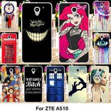Taoyunxi телефон силиконовый чехол для ZTE лезвие A510 510 A2 5.0 дюймов Дело Мягкие TPU крышка Принцесса Жасмин татуированные Обувь для девочек Сумка