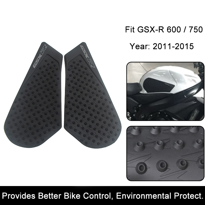 Rubber Anti Slip Tank Pad Sticker Gas Knee Grip Traction Side 3m Decal For 2007-2015 Suzuki Gsxr Gsx-r 1000 Covers & Ornamental Mouldings