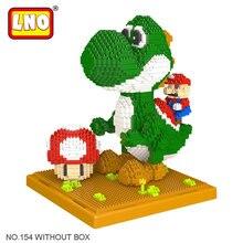 LNO Hobbies Self-assembly Building Blocks Super Mario Yoshi Action Figure Diamond Micro Bricks Big Size Anime Cartoon Kids Toys