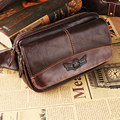 Fashion Retro Genuine Leather man bag Top quality chest pack small bag crossbody Shoulder bag waist packs soft pockets